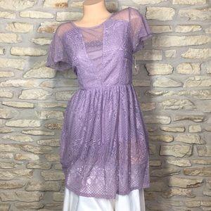 M Xhilaration Light Purple Dress Lace